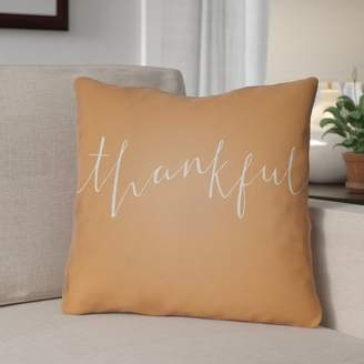 The Holiday Aisle Thankful Indoor/Outdoor Throw Pillow
