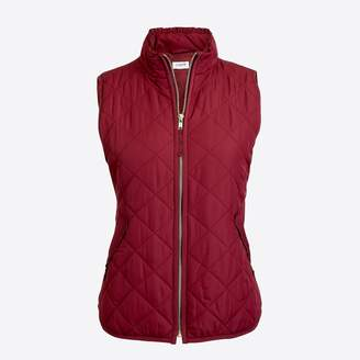 J.Crew Ruffle quilted puffer vest