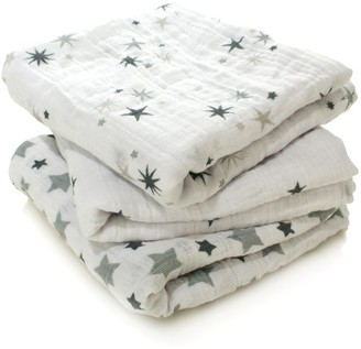 aden + anais Pack of 3 Grey Stars Swaddle $38.40 thestylecure.com