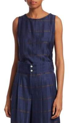 Piazza Sempione Sleeveless Windowpane Check Top