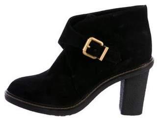 Fendi Monk Strap Suede Boots