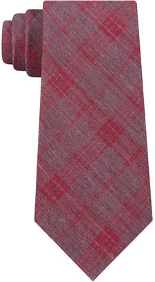 Calvin Klein Men Molten Plaid Slim Tie