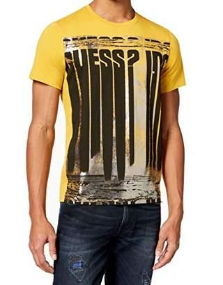 GUESS Men's Short Sleeve Basic FOIL Logo Crew TEE