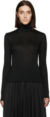 Yohji Yamamoto Black Nylon Turtleneck $330 thestylecure.com