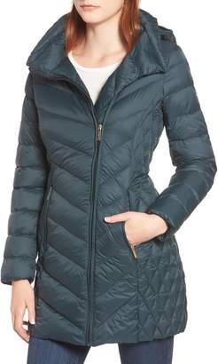 MICHAEL Michael Kors Packable Down Hooded Jacket