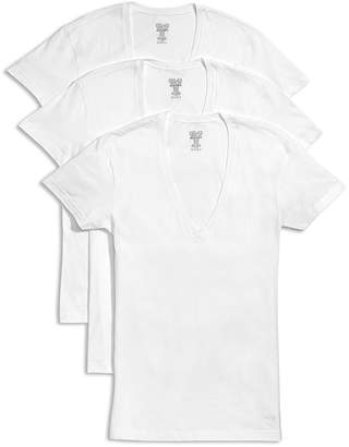 2xist Slim Fit Deep V-Neck Tee, Pack of 3