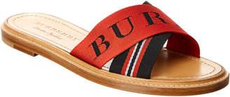 Burberry Striped Flat Sandal