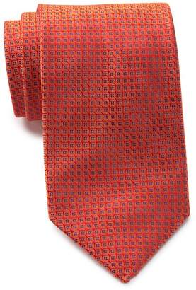 Thomas Pink Silk Gordon Neat TIe