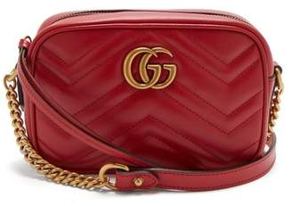Gucci - Gg Marmont Mini Quilted Leather Shoulder Bag - Womens - Red
