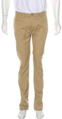 Burberry Twill Straight-Leg Pants