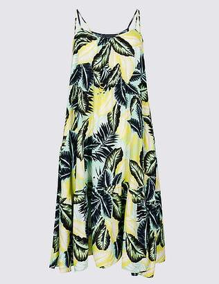 Marks and Spencer Palm Print Woven Flippy Beach Dress