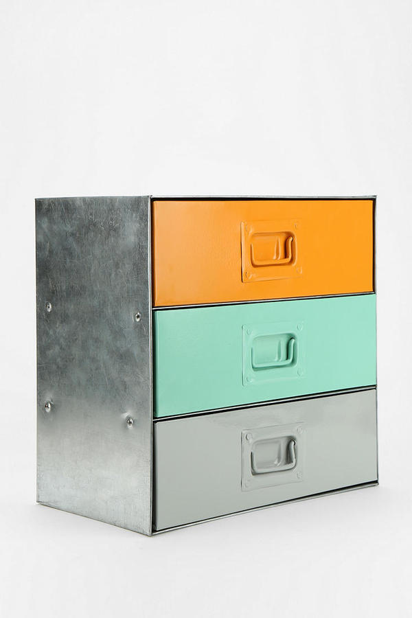 Urban Outfitters Industrial Colorblock Cabinet