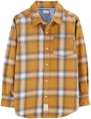 Carter's Boys 4-12 Plaid Button Down Shirt