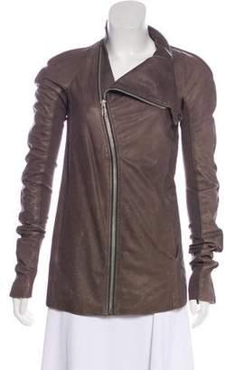 Rick Owens Long Sleeve Leather Jacket