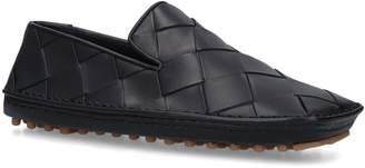 Bottega Veneta Leather Intrecciato Driving Shoes