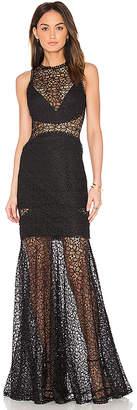 Nicholas Lace Cutaway Gown