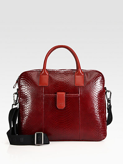 HUGO BOSS Stamped Leather Briefcase