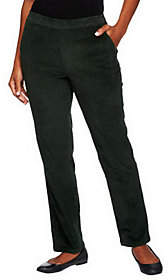 Denim & Co. Regular Classic Waist Slim LegCorduroy Pants