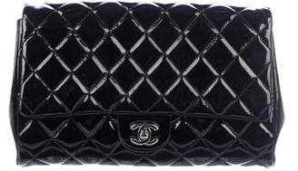 Chanel Patent Quilted New Clutch