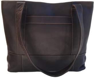 Piel Leather Top-Zip Tote