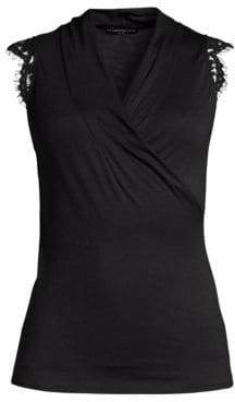 Generation Love Women's Francesca Wrap Tank - Black - Size Large