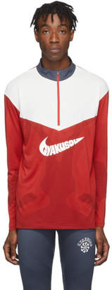 Nike Red and White Gyakusou Half-Zip Sweater