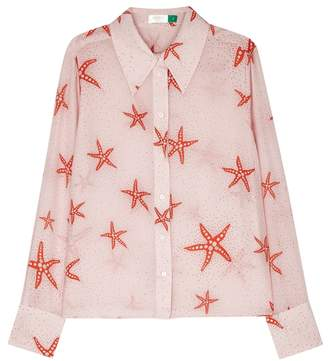 Rixo London RIXO London Jamie Starfish-print Silk Shirt