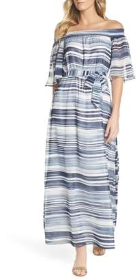 Trina Turk trina San Onofre Off the Shoulder Maxi Dress