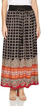 Angie Women's Printed Maxi Skirt With Tie Waist