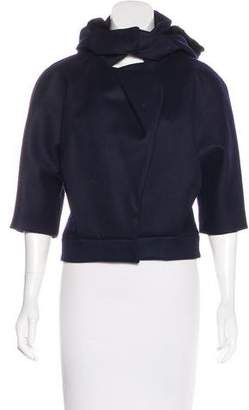 Nina Ricci Fur-Accented Wool Jacket