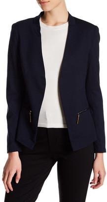 Carmen Carmen Marc Valvo Long Sleeve Blazer with Zip Pockets (Petite) $88 thestylecure.com