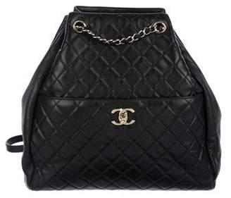 Chanel 2016 Quilted Drawstring Bucket Bag