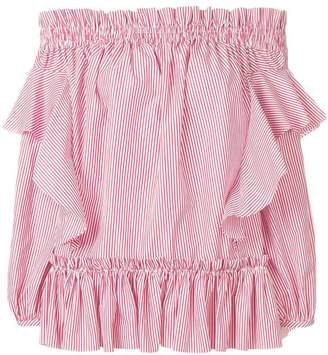 Alexander McQueen striped off-shoulder top