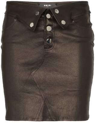 Amiri folded mini skirt