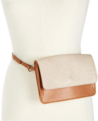 INC International Concepts I.n.c. Smooth & Python-Embossed Fanny Pack