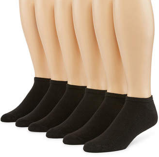 Fruit of the Loom Breathables 6 Pair No Show Socks-Extended Size