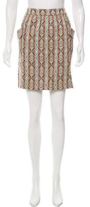 Dries Van Noten Pattern Mini Skirt