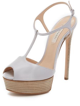 Casadei T Strap Heels $875 thestylecure.com