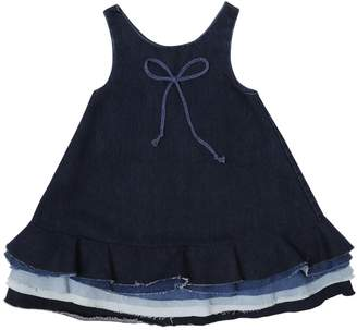 Denim Dress W/ Layered Hem