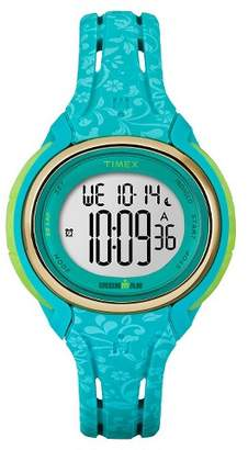 Timex Women's Timex Ironman® Sleek 50 Lap Digital Floral Watch - Blue TW5M03100JT $69.95 thestylecure.com