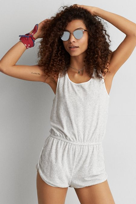 American Eagle Outfitters AE Soft & Sexy Terry Romper