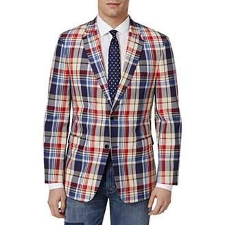 Tommy Hilfiger Men's Two Button Madras Blazer