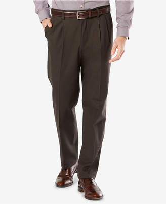 Dockers New Big & Tall Signature Lux Cotton Classic Fit Pleated Stretch Khaki Pants