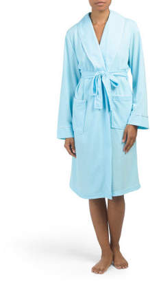 Blister Knit Robe With Slippers