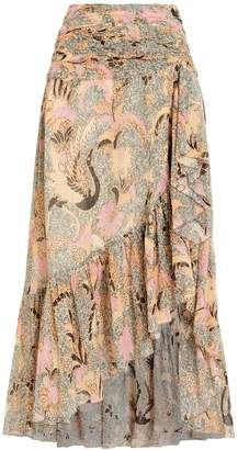 Ulla Johnson Ailie Birds Of Paradise Georgette Skirt
