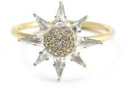 Bond Eye Bondeye 14K Yellow Gold, White Topaz, White Diamond Clio Ring