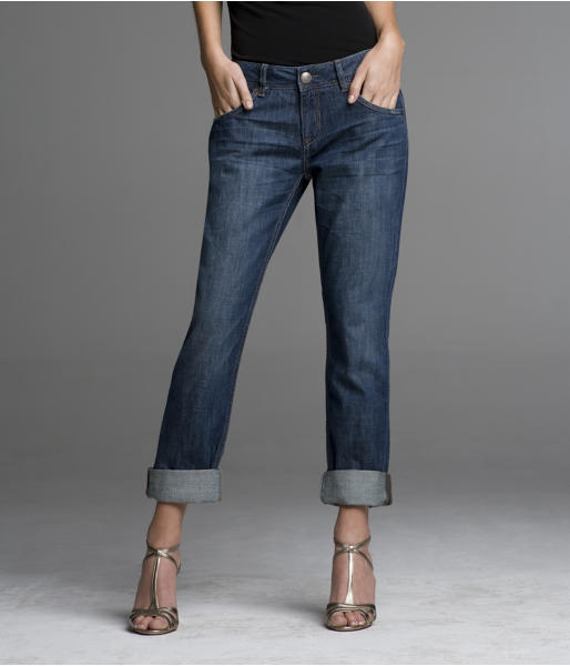 Boyfriend Jean - Eco Blue Destroyed