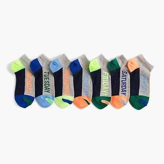 J.Crew Boys' days of the week socks seven-pack