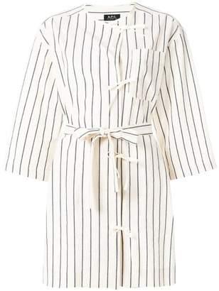 A.P.C. bow detail striped blouse