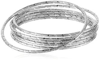 Panacea Diamond Cut Bangle Bracelet